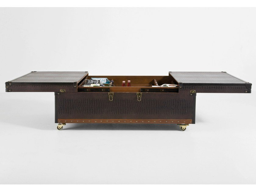 Coffee table with casters for living room COLONIAL | Coffee table - KARE-DESIGN