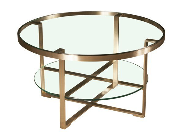 Glass coffee table with integrated magazine rack NOLA - Hamilton Conte Paris