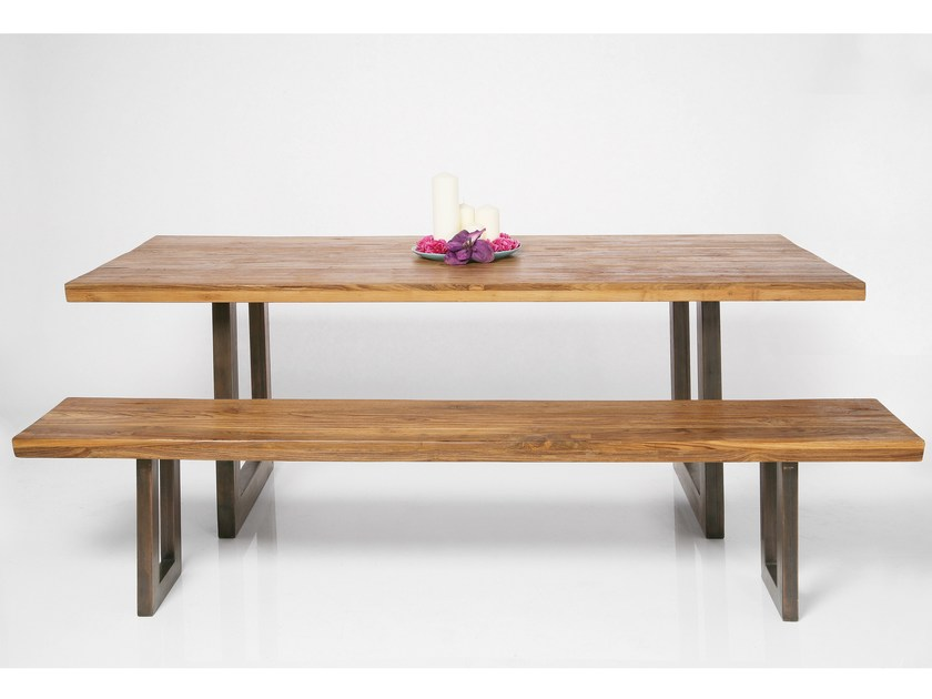 Rectangular steel and wood dining table FACTORY | Table - KARE-DESIGN