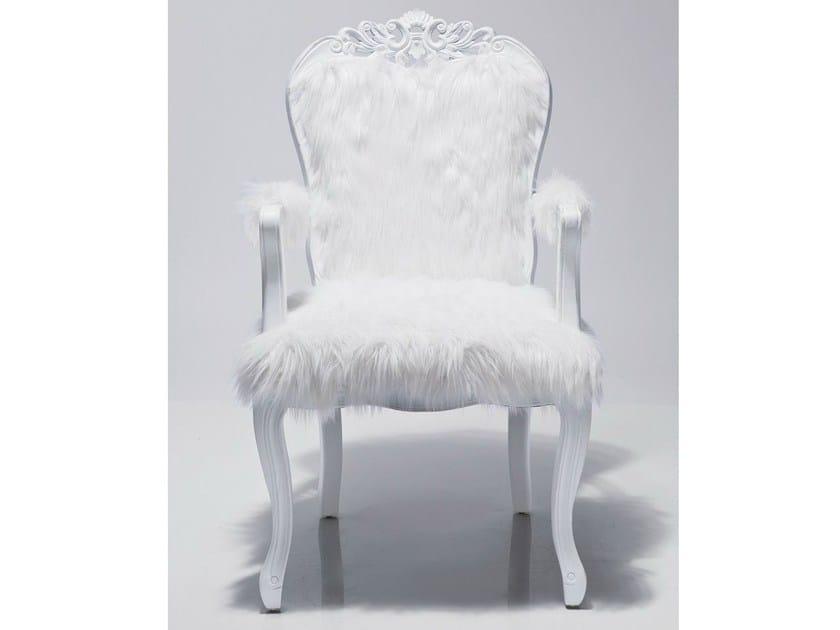 Fur armchair with armrests ROMANTICO FUR - KARE-DESIGN