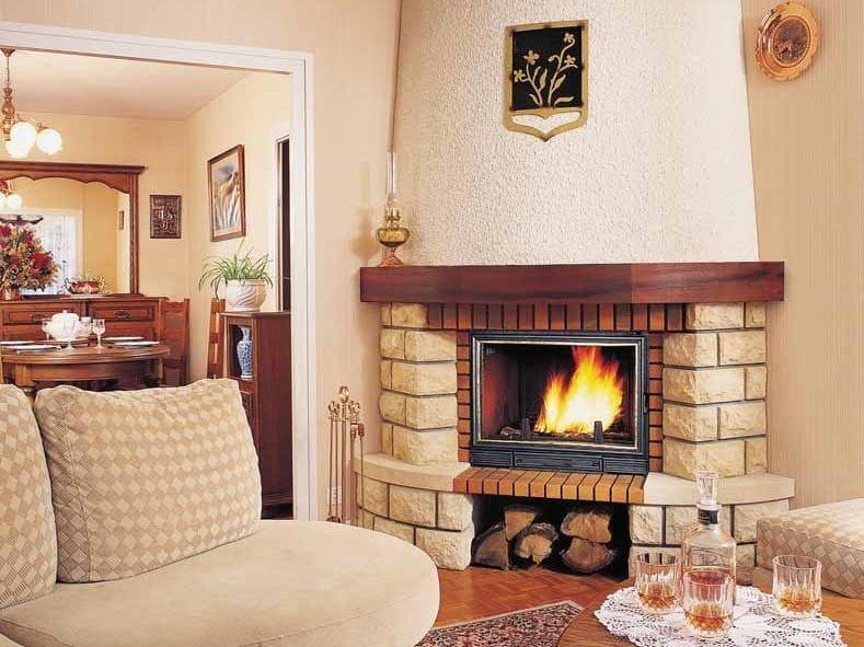 Wood-burning corner fireplace with panoramic glass CHARADE - CHEMINEES SEGUIN DUTERIEZ