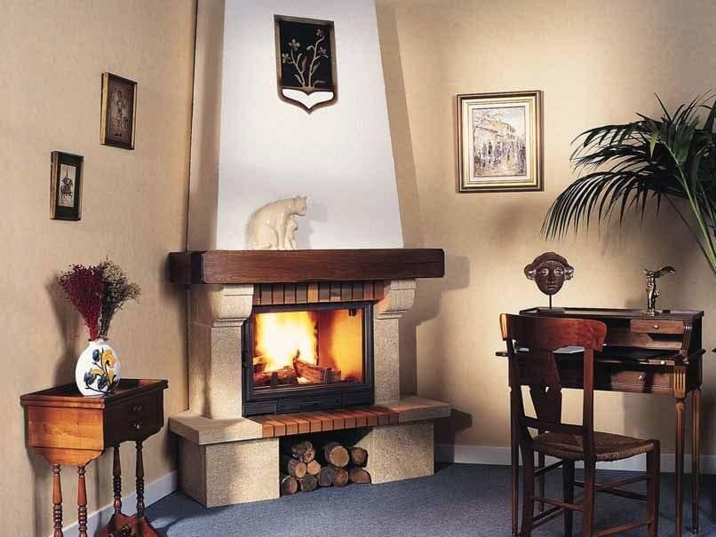 Wood-burning fireplace with panoramic glass ELSA - CHEMINEES SEGUIN DUTERIEZ