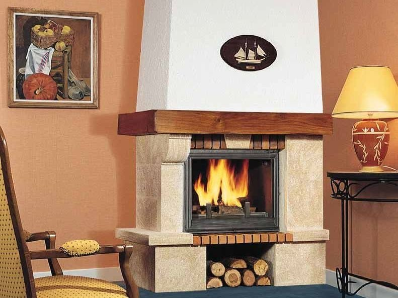 Wood-burning fireplace with panoramic glass AMÉLIE - CHEMINEES SEGUIN DUTERIEZ