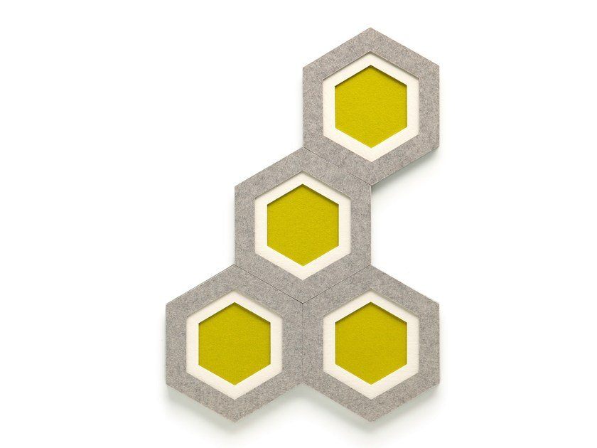 Felt decorative acoustical panel COMB by HEY-SIGN