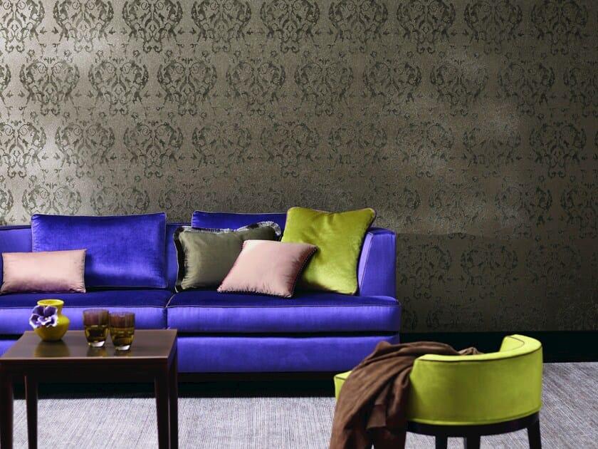 carta da parati damascata planet ornament by zimmer rohde. Black Bedroom Furniture Sets. Home Design Ideas
