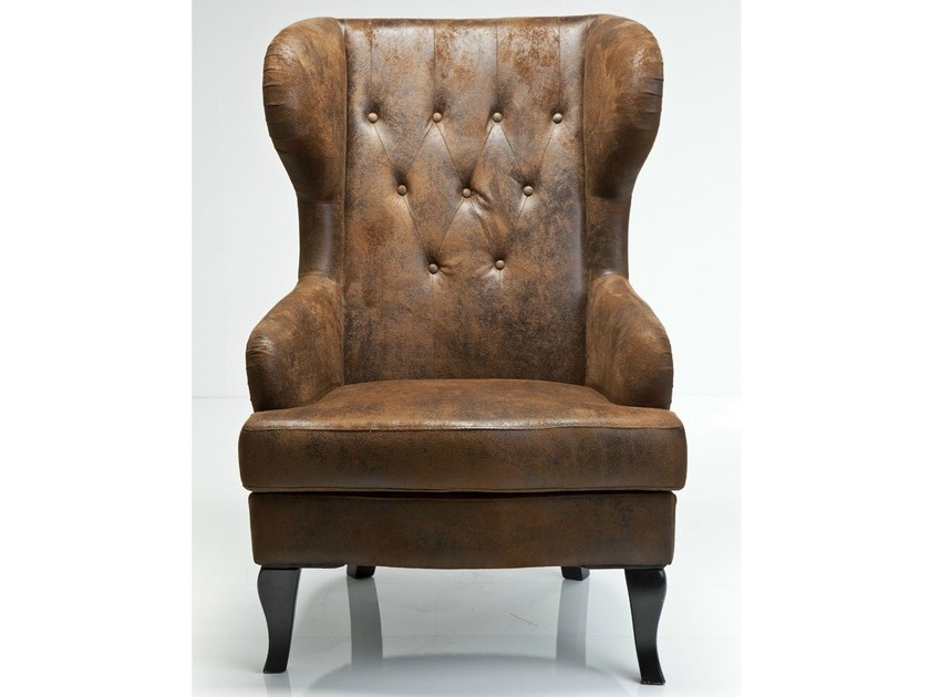 Upholstered leather armchair VINTAGE | Armchair - KARE-DESIGN