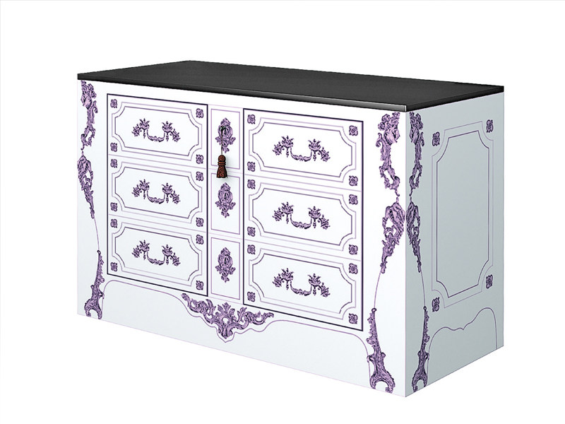 Lacquered wooden chest of drawers LE ROI - Zanotta