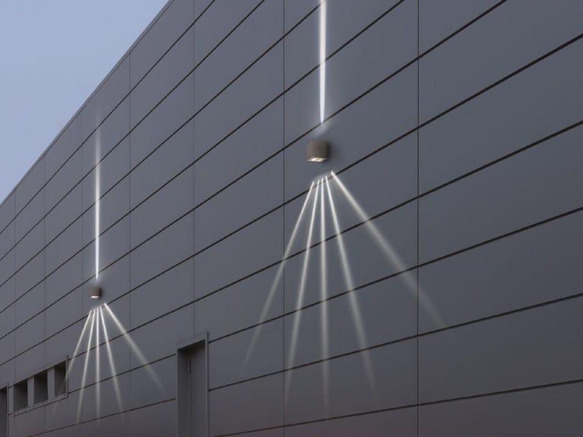 Direct-indirect light Wall Lamp K³ WRITER - Goccia Illuminazione