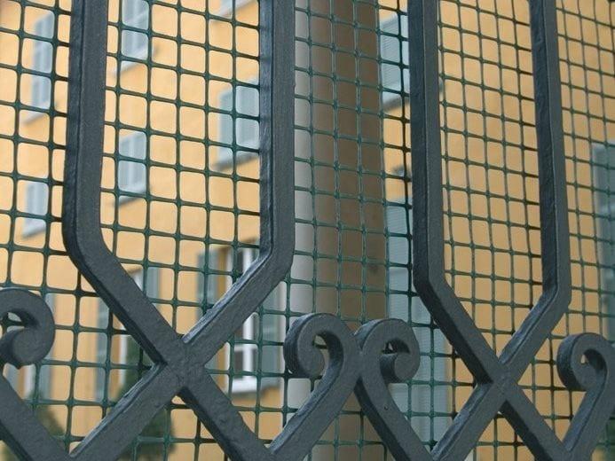 Rete aggiuntiva su cancelli e recinzioni quadra 20 tenax for Rete stirata per cancelli