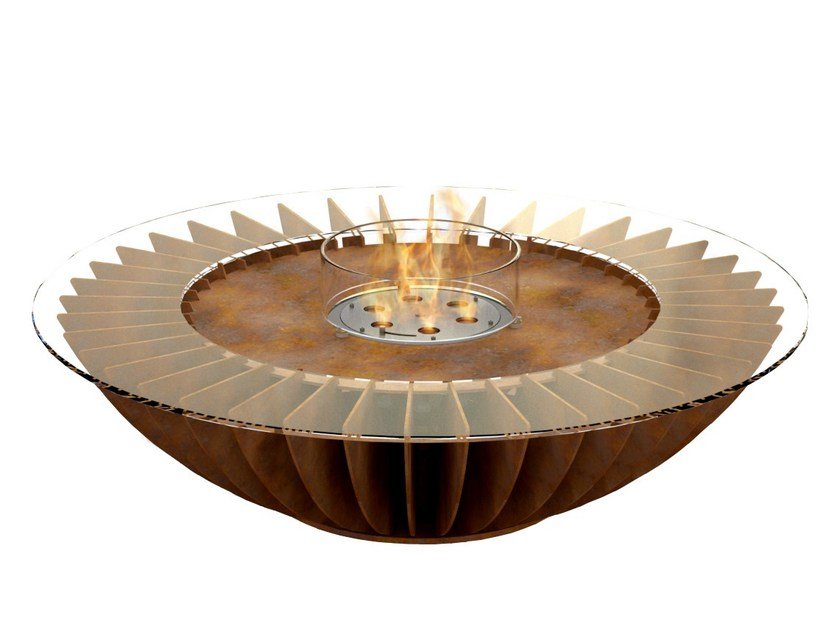Freestanding bioethanol steel fireplace COSMO - GlammFire