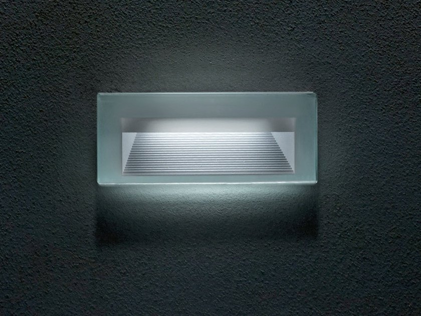 LED wall-mounted glass foot- and walkover light QUANTUM | Built-in lighting - Goccia Illuminazione