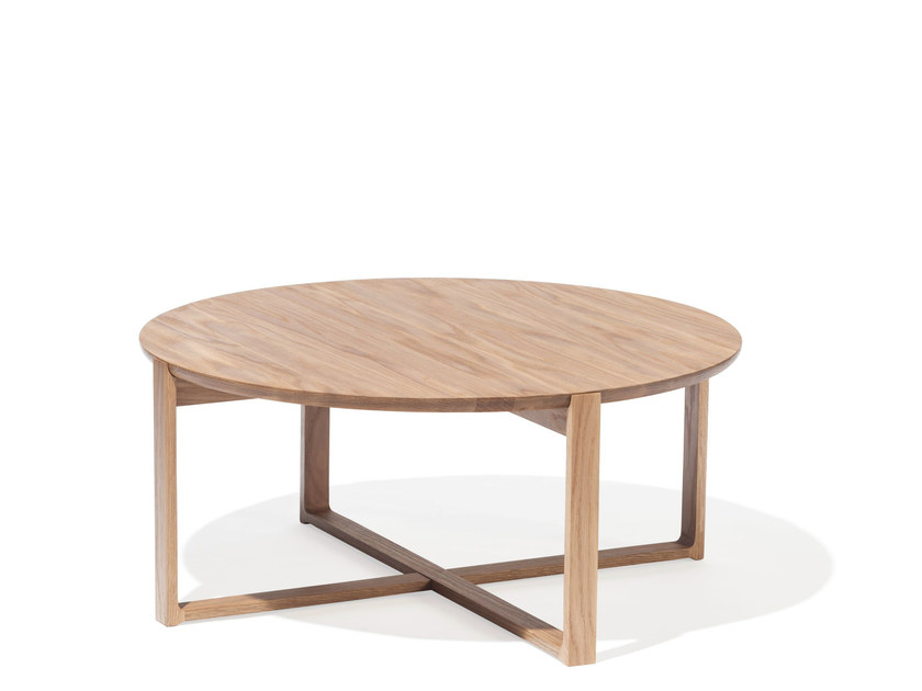 Low solid wood coffee table DELTA COFFEE | Low coffee table by TON