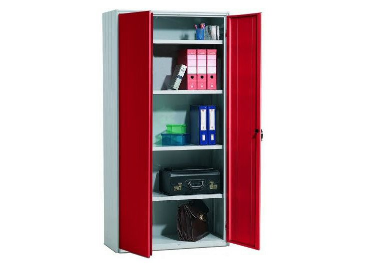 Metal office storage unit with hinged doors 255/100 | Office storage unit by Castellani.it
