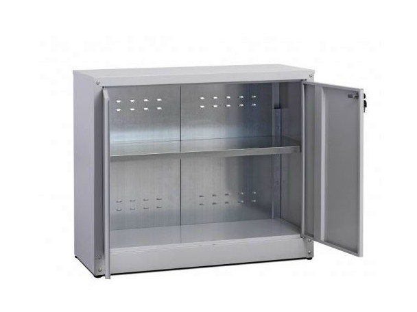 Low office storage unit with hinged doors with lock ZTP804080 | Office storage unit - Castellani.it