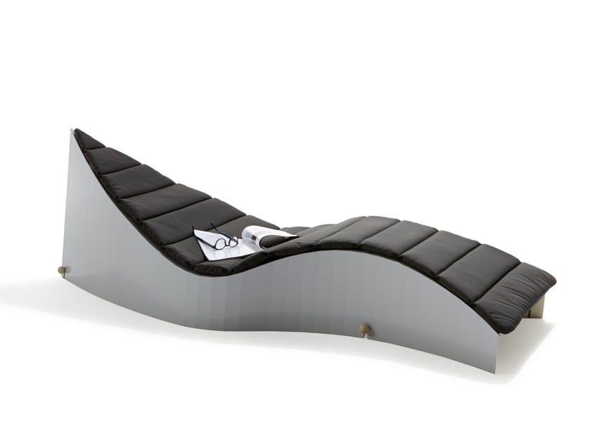 Laminated wood lounge chair / garden daybed KOII by Müller Möbelwerkstätten