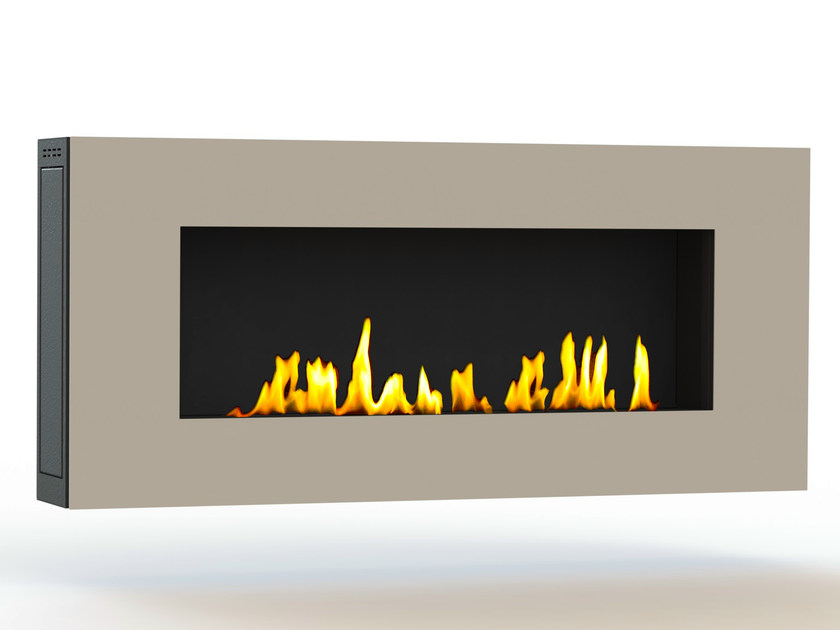 Bioethanol wall-mounted lacquered steel fireplace APOLLO III CREA7ION - GlammFire
