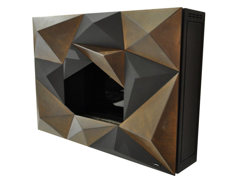 Bioethanol wall-mounted steel fireplace CRYSTAL by GlammFire