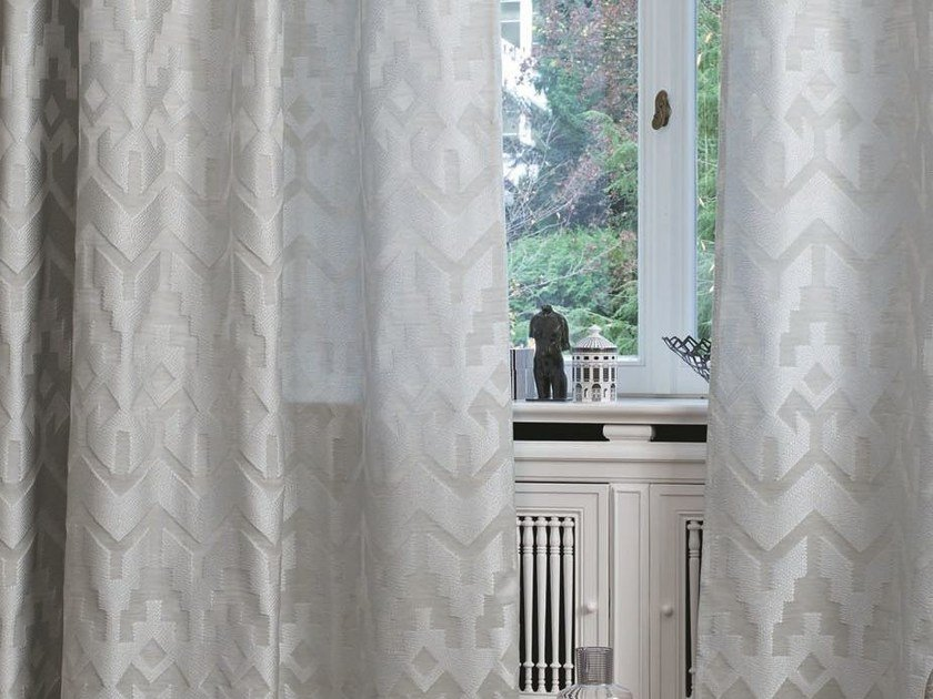 Jacquard fabric for curtains AFFAIR | Fabric for curtains - Zimmer + Rohde