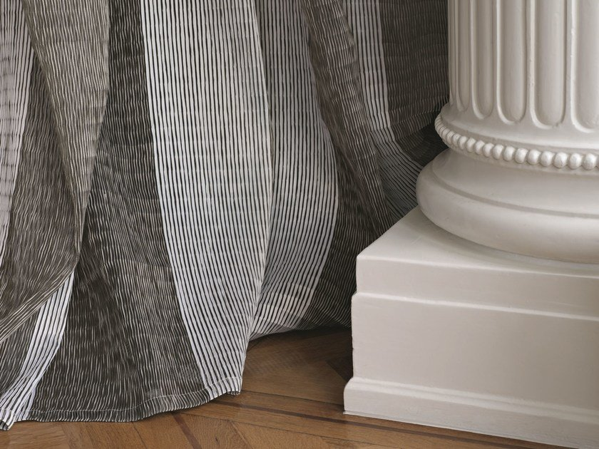 Striped polyester fabric for curtains MACY - Zimmer + Rohde