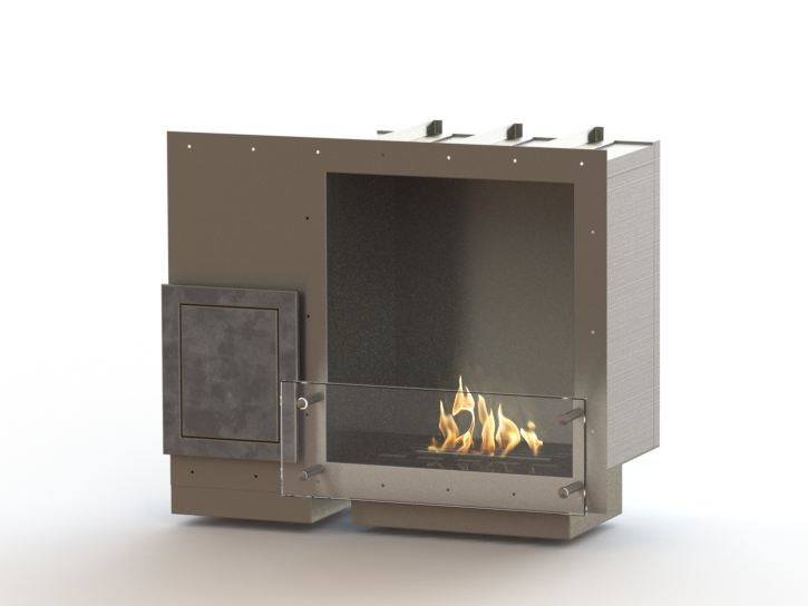Built-in bioethanol stainless steel fireplace GLAMMBOX 420 CREA7ION - GlammFire