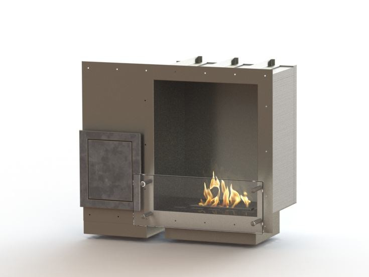 Built-in bioethanol stainless steel fireplace GLAMMBOX 450 CREA7ION - GlammFire