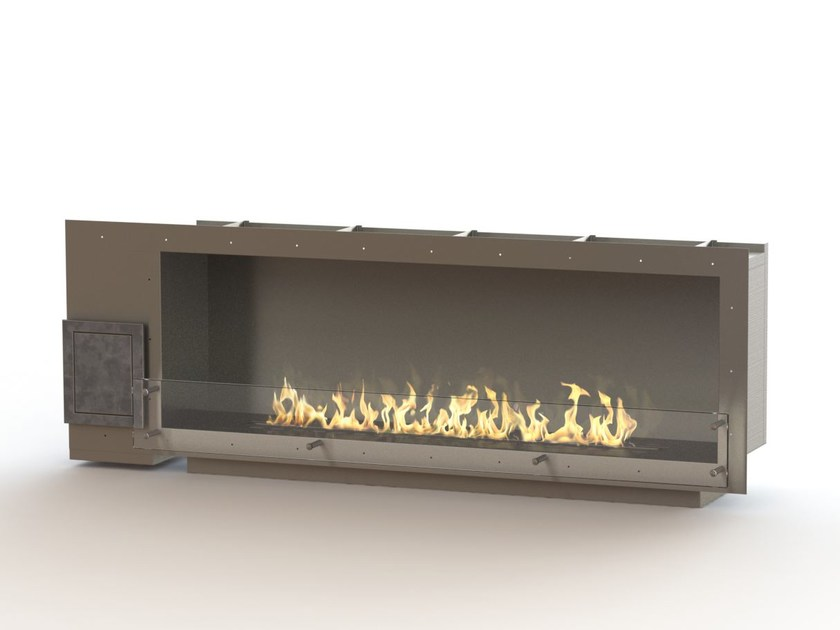Built-in bioethanol stainless steel fireplace GLAMMBOX 1600 CREA7ION - GlammFire