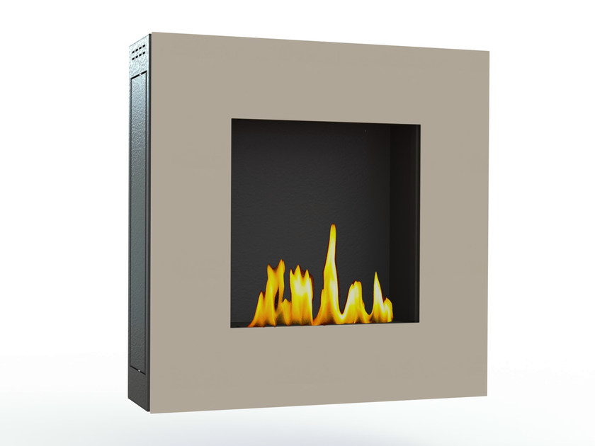 Bioethanol wall-mounted lacquered steel fireplace LOTUS IV CREA7ION - GlammFire