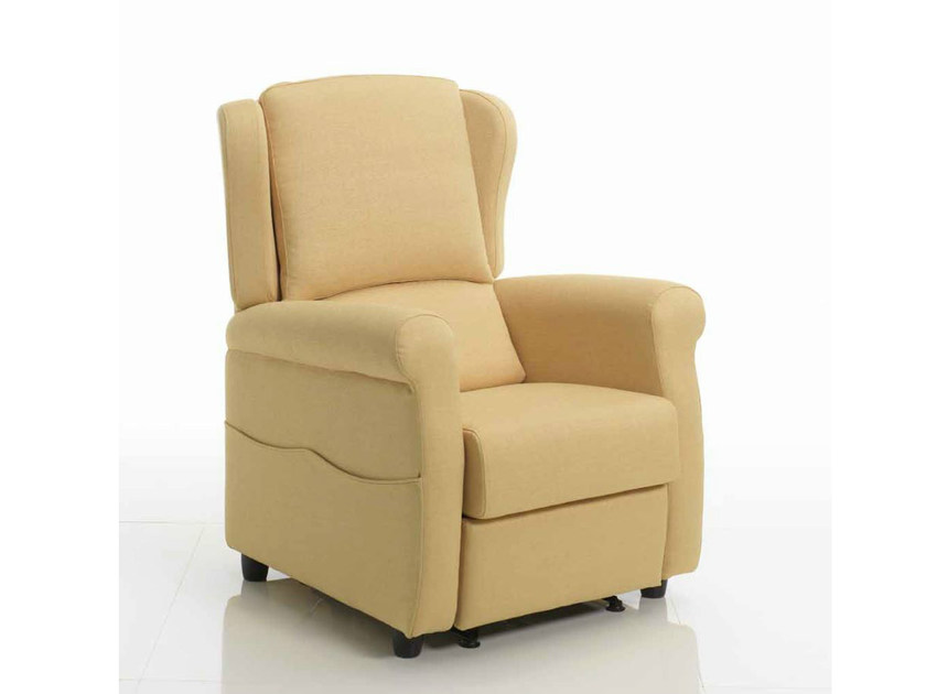 Fabric armchair with armrests with motorised functions 315 | Armchair - Castellani.it