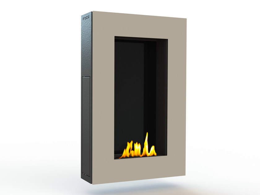 Bioethanol wall-mounted lacquered steel fireplace TANGO III CREA7ION - GlammFire