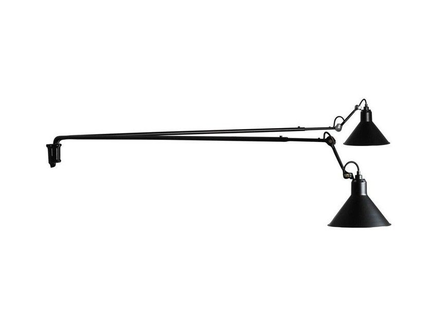 Adjustable steel wall lamp N°213 L DOUBLE - DCW éditions