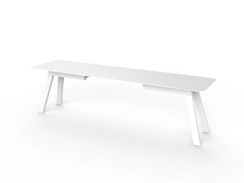Corian® garden bench SLIM | Garden bench by VITEO