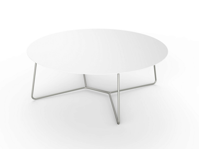 Round Corian® coffee table SLIM LOUNGE TABLE 90 - VITEO