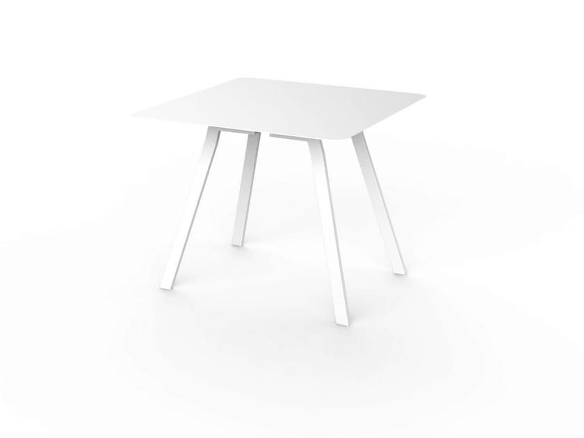 Square Corian® table SLIM DINING 90 - VITEO