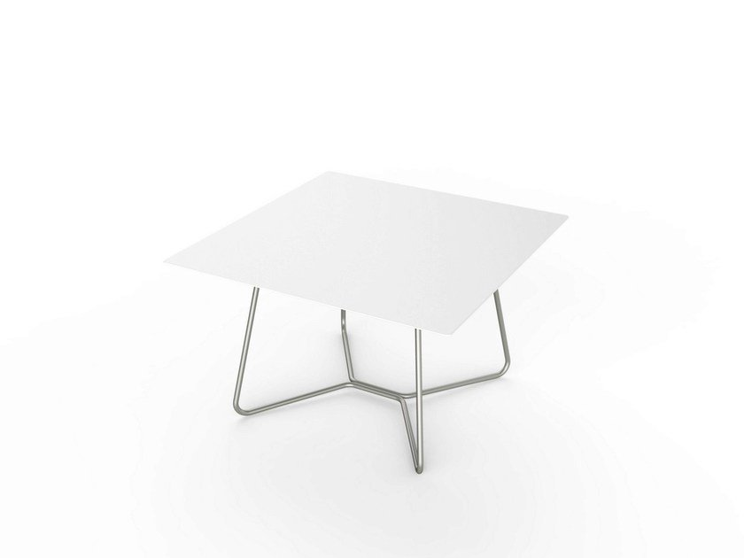 Square Corian® coffee table LOUNGE SQUARE TABLE 64 - VITEO