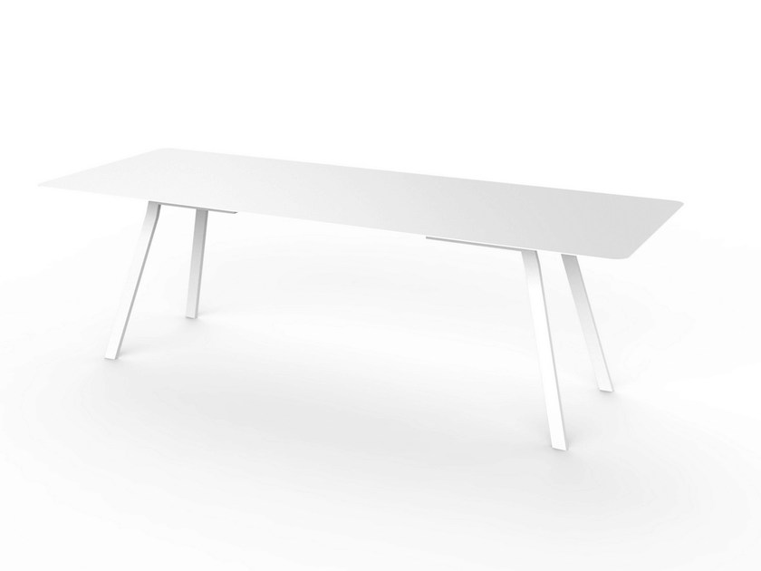 Rectangular Corian® table SLIM DINING 240 - VITEO