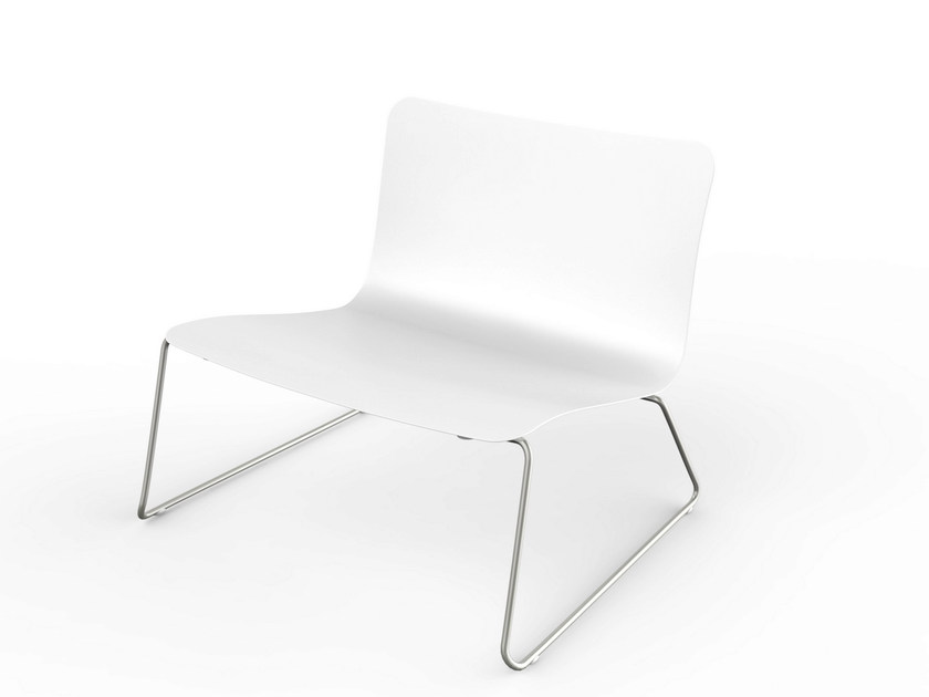 Stackable Corian® garden armchair SLIM | Stackable easy chair - VITEO