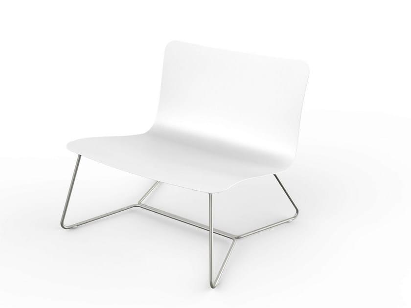 Corian® garden armchair SLIM | Easy chair - VITEO
