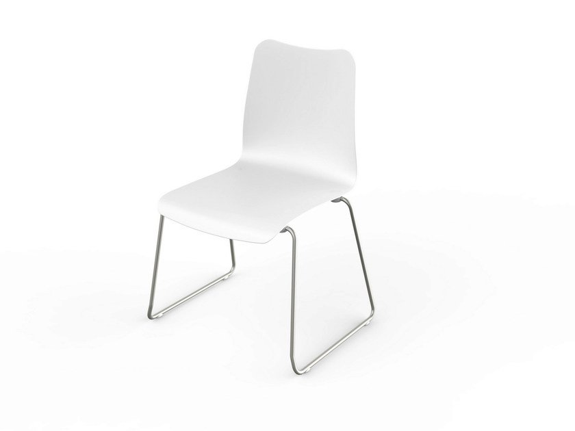 Stackable Corian® chair SLIM | Stackable chair - VITEO