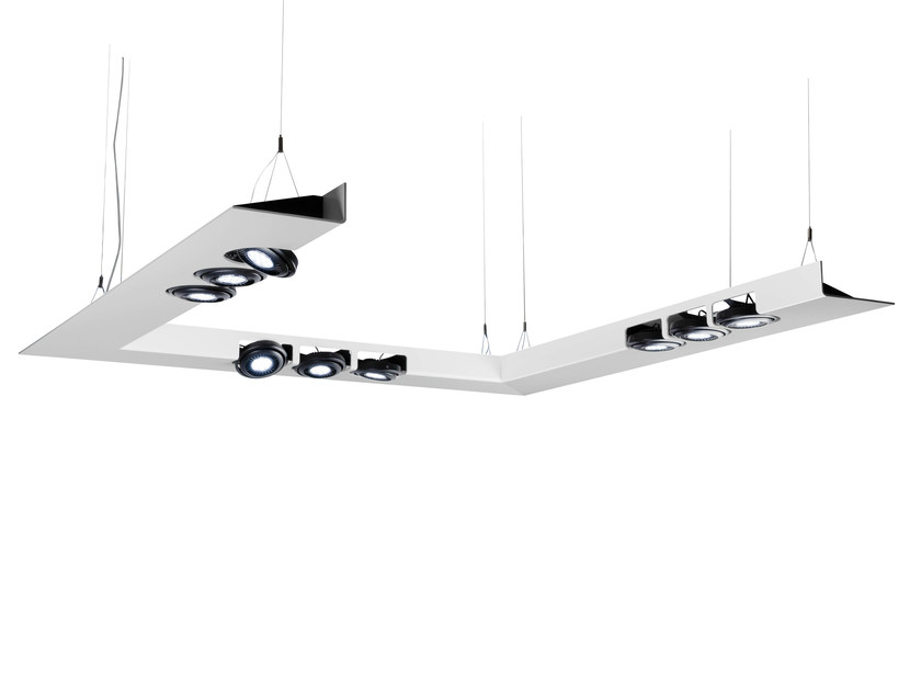 LED aluminium pendant lamp CONSTELLATION SYSTEM - FLASH DQ by LUG Light Factory