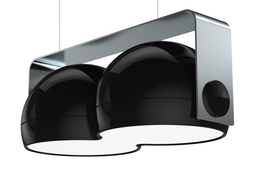 LED direct-indirect light resin pendant lamp ECLIPSE - FLASH DQ by LUG Light Factory