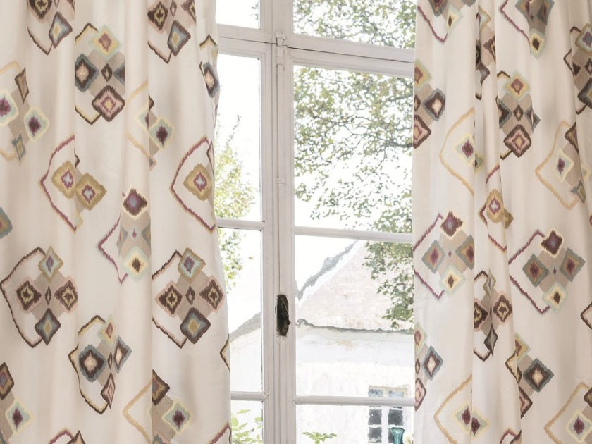 Fabric with graphic pattern for curtains CARACTÈRE | Fabric for curtains by Zimmer + Rohde