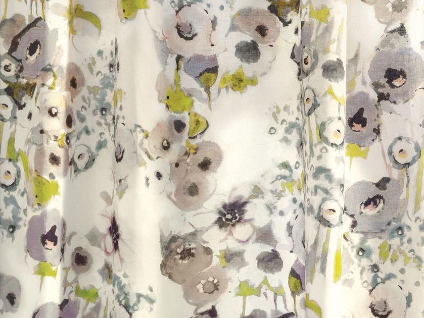 Linen fabric with floral pattern for curtains BEL ÉTÉ | Fabric for curtains by Zimmer + Rohde