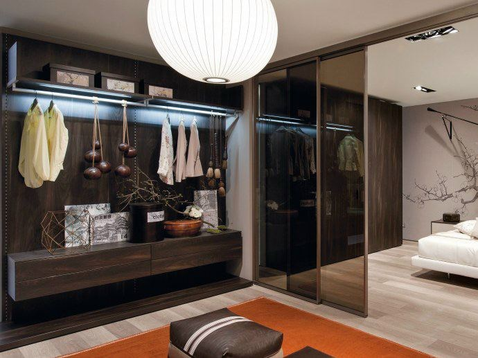 Wood and glass walk-in wardrobe PICÀ Z303 - Zalf