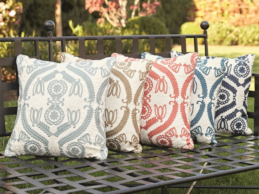 Embroidered cotton upholstery fabric AMELIA EMBROIDERY by Zimmer + Rohde