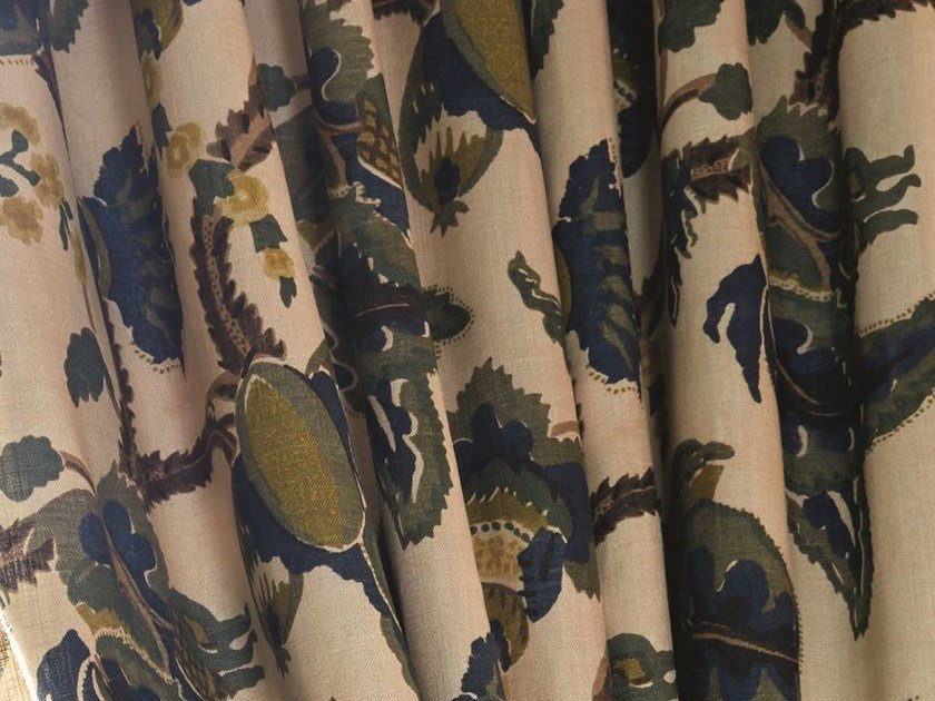 Printed fabric for curtains YORKSHIRE | Fabric for curtains - Zimmer + Rohde