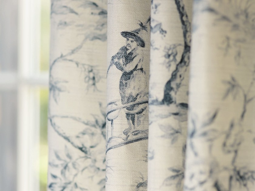 Printed fabric for curtains CATHAY by Zimmer + Rohde