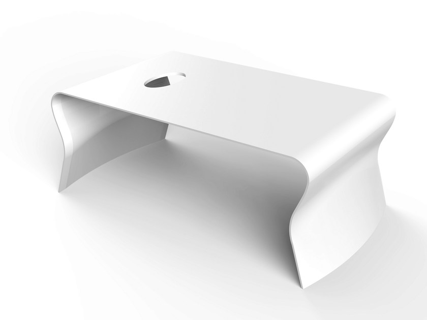 Rectangular Corian® coffee table LOW | Rectangular coffee table by VITEO