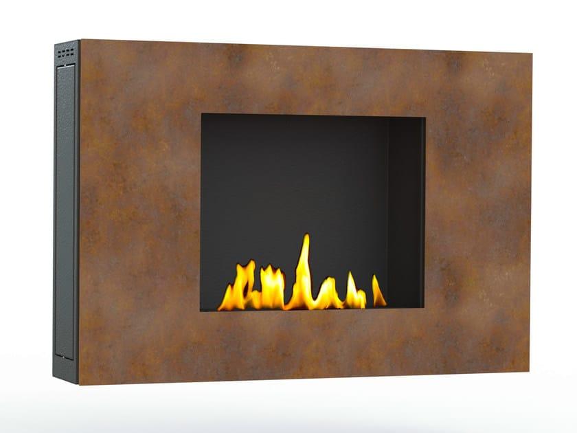 Bioethanol wall-mounted Corten™ fireplace ZEN III CREA7ION - GlammFire