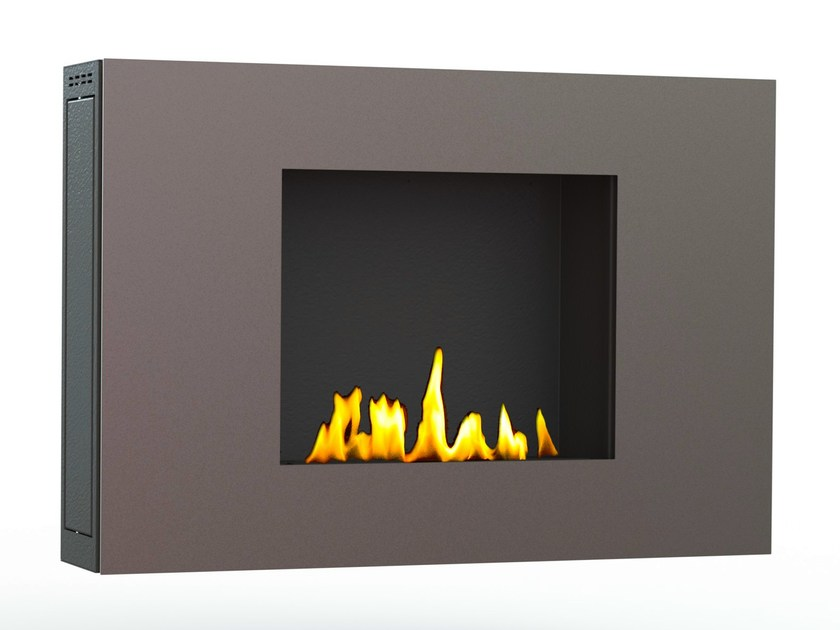 Bioethanol wall-mounted brushed stainless steel fireplace ZEN IV CREA7ION - GlammFire