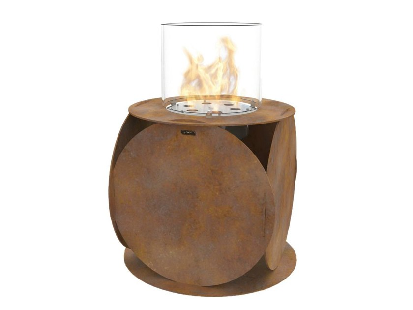 Bioethanol freestanding Corten™ fireplace LIRA | Corten™ fireplace - GlammFire